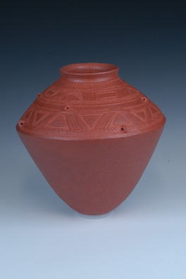 hand coiled ceramic earthenware cremation urns, funeral urns or funerary urns